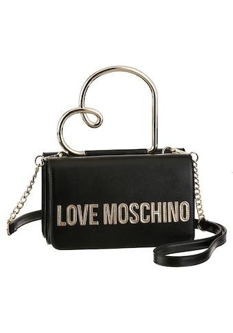 LOVE MOSCHINO Mini Bag, mit goldfarbenen Details und Herz Applikation kaufen