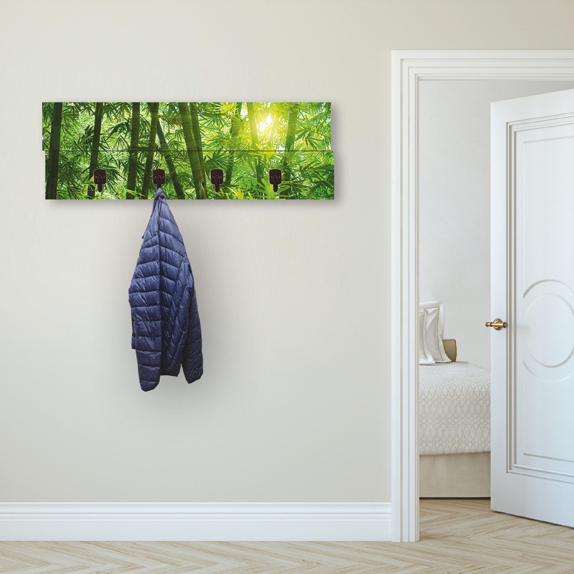 Image of Artland Garderobenpaneel »Asiatischer Bambuswald«, Garderobe mit 4 Haken