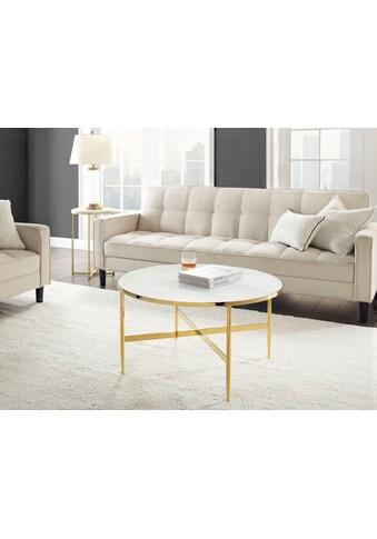 Leonique Couchtisch »Jolanda«, Elegantes Design, Tischplatte in Marmoroptik kaufen