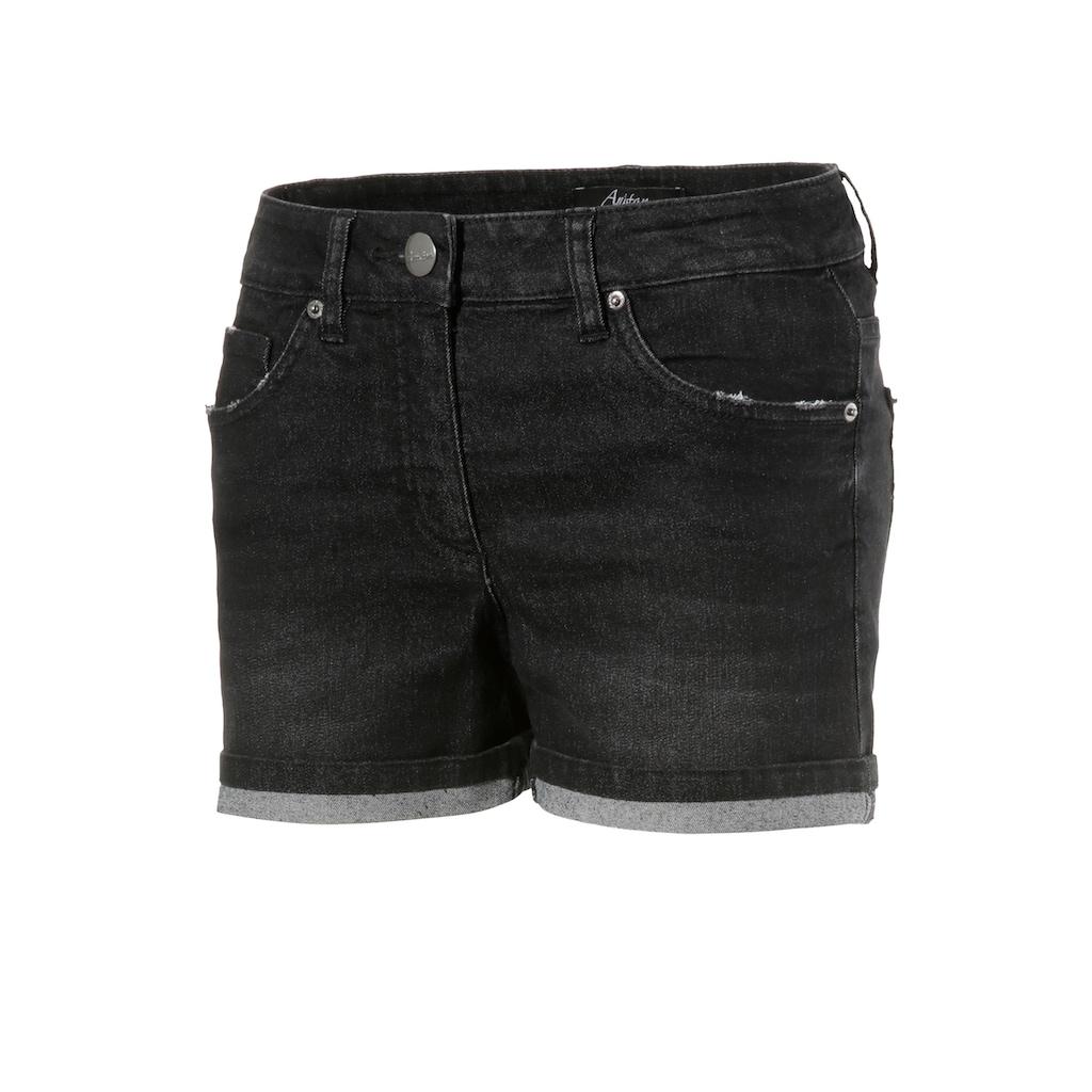 Aniston CASUAL Jeansshorts, mit leichten Abriebeffekte