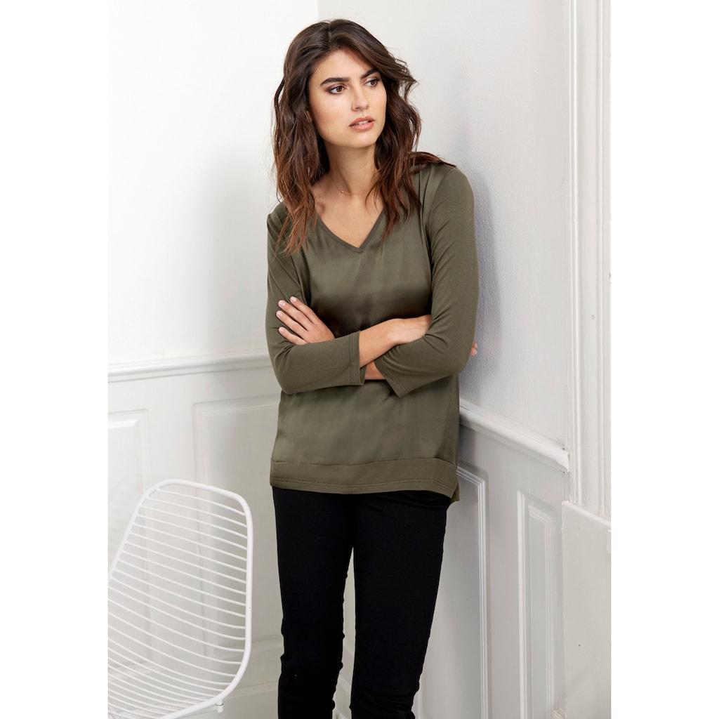 soyaconcept Shirtbluse »SC-THILDE39«, Vorderteil leicht glänzend