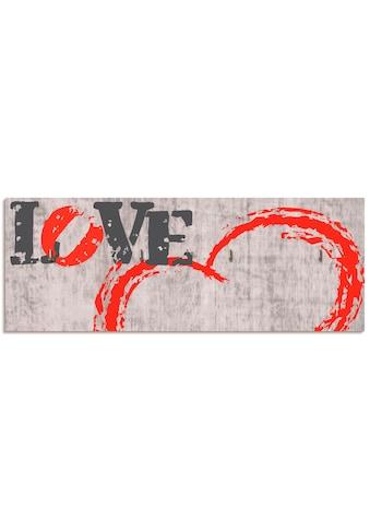 Artland Schlüsselbrett »Liebe ist...«, aus Holz mit 4 Schlüsselhaken – Schlüsselboard,... kaufen