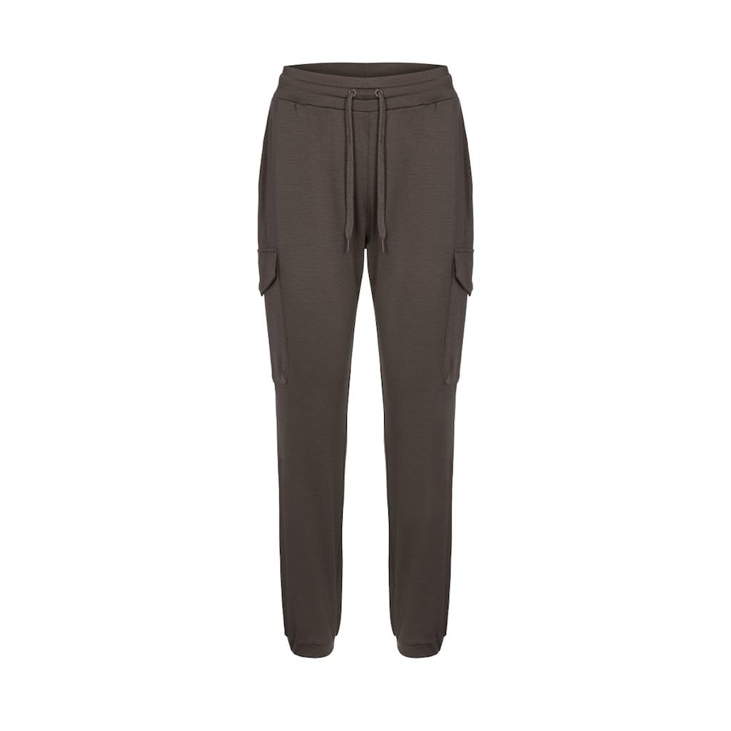 SUPER.NATURAL Jogginghose »W CARGO PANTS«, toller Merino-Materialmix