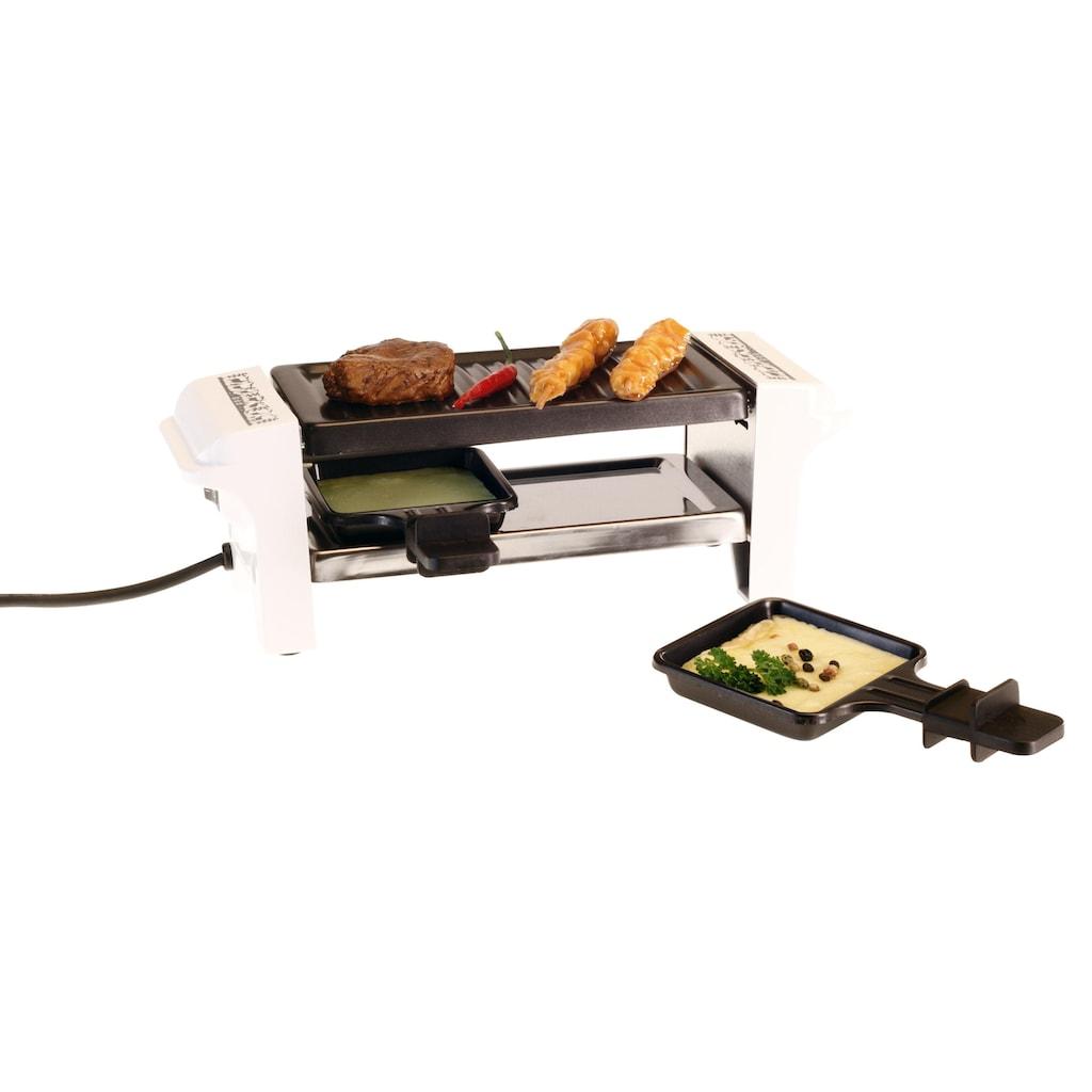 Raclette »Raclette-Grill Scherenschnitt Weiss 2 Personen«, 2 St. Raclettepfännchen, - W