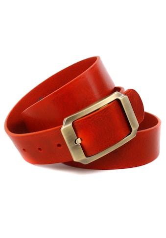 Anthoni Crown Ledergürtel, mit messingfarbender Gürtelschliesse kaufen