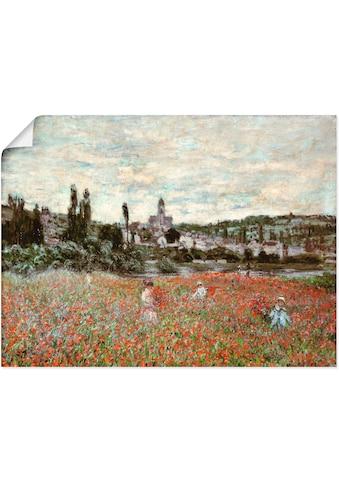 Artland Wandbild »Mohnfeld bei Vetheuil. Ca.1880«, Blumenwiese, (1 St.), in vielen... kaufen