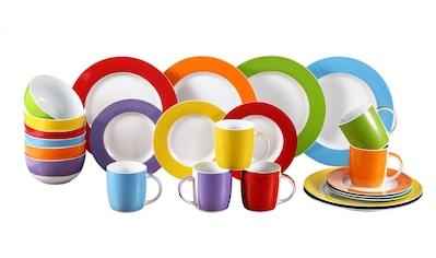 Retsch Arzberg Kombiservice »Colour Band«, (Set, 24 tlg.), Mix & Match Design kaufen