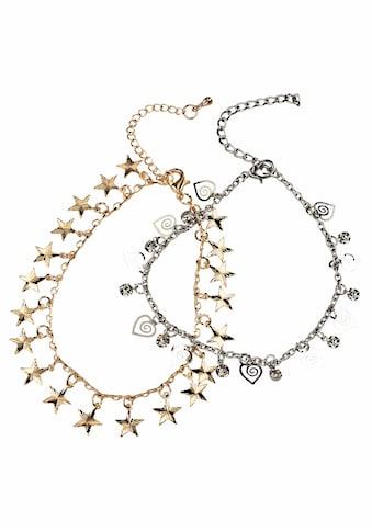 J.Jayz Fussketten Set »mit Sternen und Herzen« (Set, 2 tlg.) kaufen
