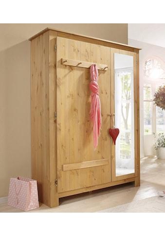 Home affaire Garderobenschrank »Bertram«, aus schönem massivem Kiefernholz, mit einer... kaufen