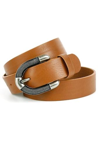 Anthoni Crown Ledergürtel, mit aufwendiger Schmuck-Schliesse in Used-Optik kaufen