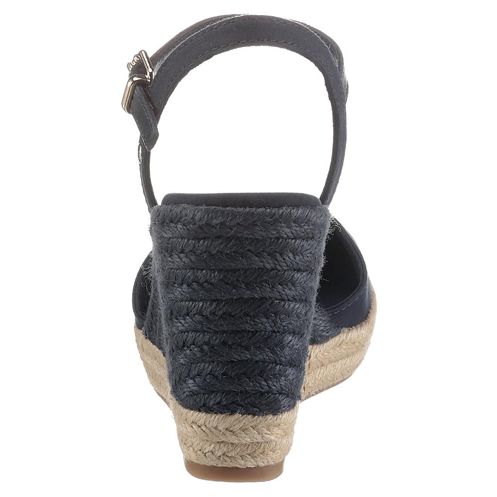 TOMMY HILFIGER Sandalette »BASIC CLOSED TOE HIGH WEDGE«, mit bezogenem Keilabsatz