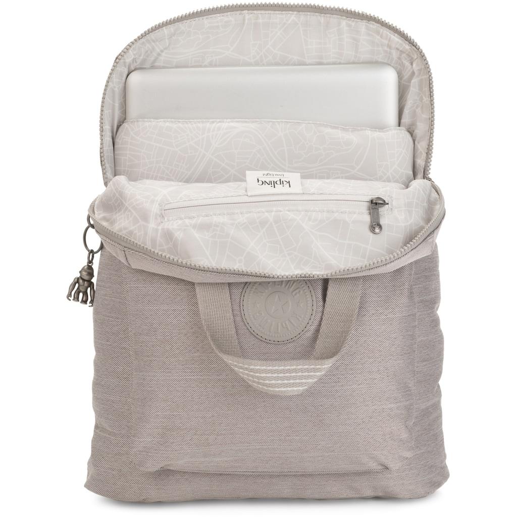 KIPLING Laptoprucksack »Kazuki, Grey Beige«