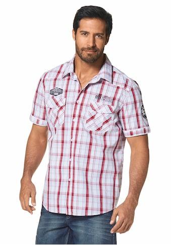 Man's World Kurzarmhemd, mit modischen Applikationen kaufen