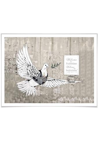 Wall-Art Poster »Banksy Die Friedenstaube Graffiti«, Graffiti, (1 St.), Poster,... kaufen