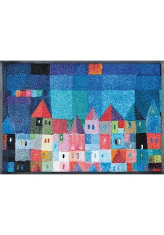 wash+dry by Kleen-Tex Fussmatte »Colourful Houses«, rechteckig, 7 mm Höhe,... kaufen