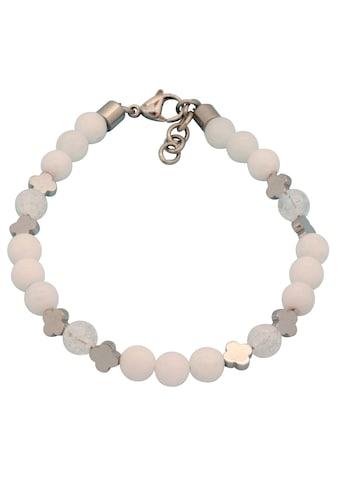 Firetti Armband »Kleeblätter, glanzvolles Design, massiv«, mit Achaten, Bergkristallen... kaufen