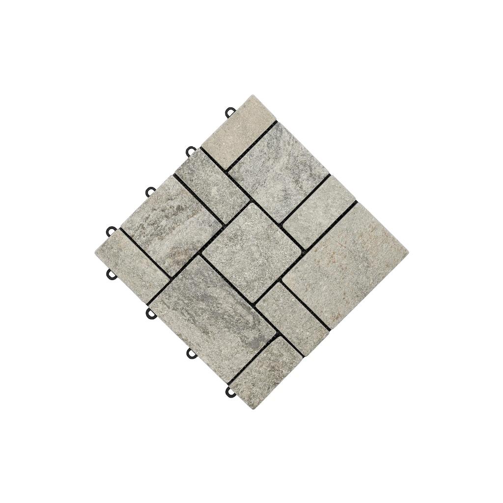 florco® Terrassenplatten »Quarz grau 30 x 30, 4 Stk.«