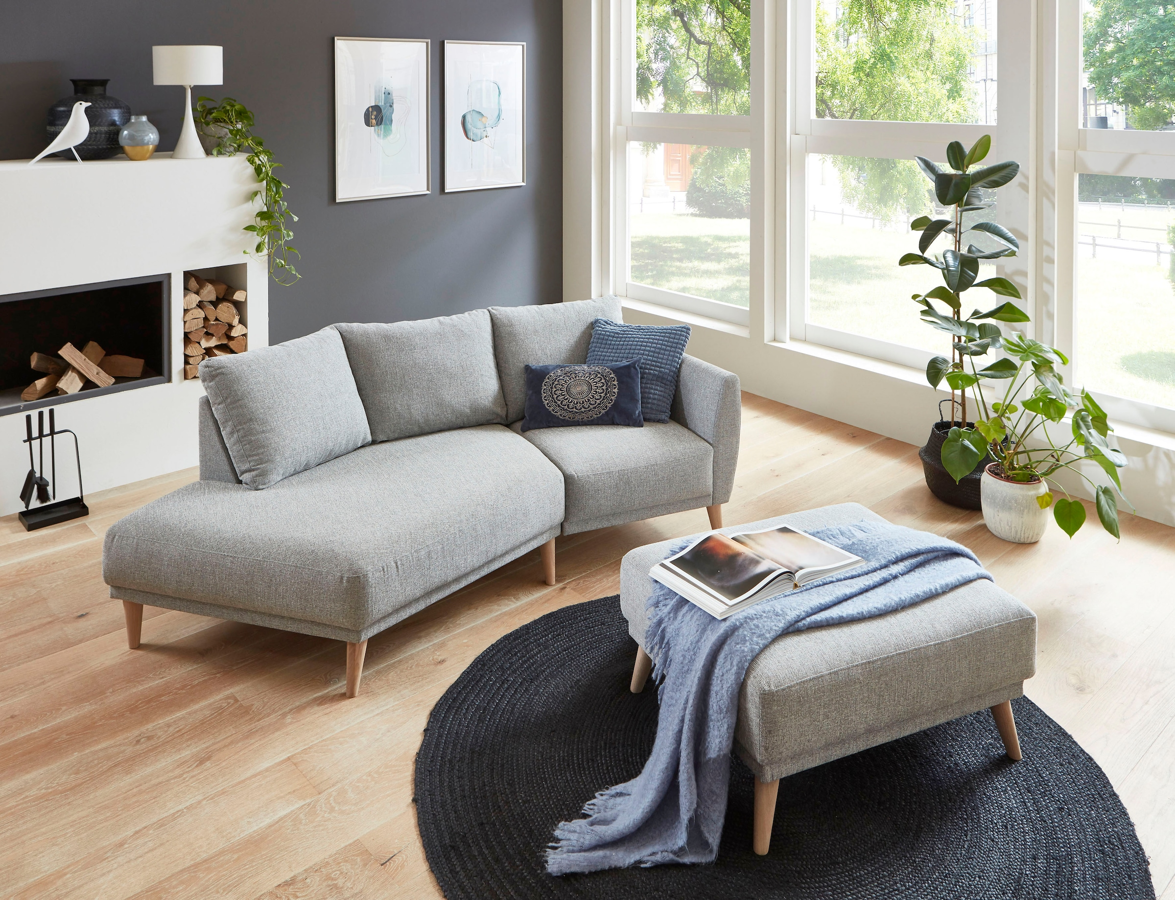 Image of ATLANTIC home collection 2,5-Sitzer »Elvis«, Polsterecke mit offenem Ende im skandinavischen Stil