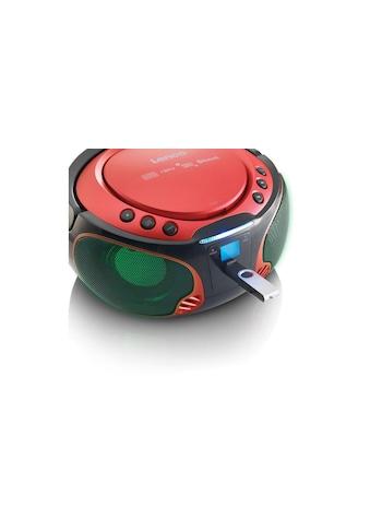 Lenco Radio »Portable Radio/CD-Player SCD-550 Rot«, (CD-Bluetooth FM-Tuner) kaufen