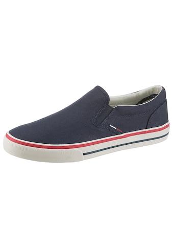 Tommy Jeans Sneaker »TOMMY JEANS TEXTILE SLIP ON«, mit seitlichen Stretcheinsätzen kaufen