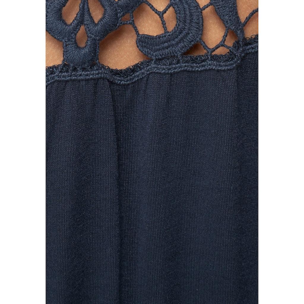 KIDSWORLD Jerseykleid, mit Spitzeneinsatz