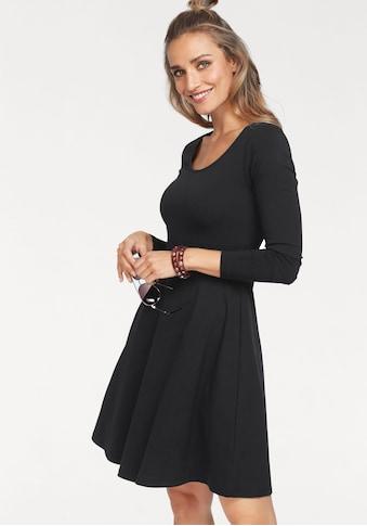 Aniston CASUAL Jerseykleid, mit Blumendruck oder in uni Schwarz kaufen