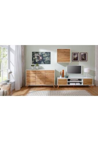 Home affaire Hängeschrank »Rondo«, mit Holztür und einem Einlegeboden, aus Massivholz,... kaufen