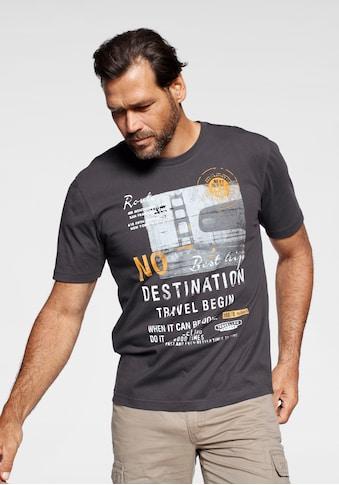 Man's World T-Shirt, Mit grossem Motivprint kaufen