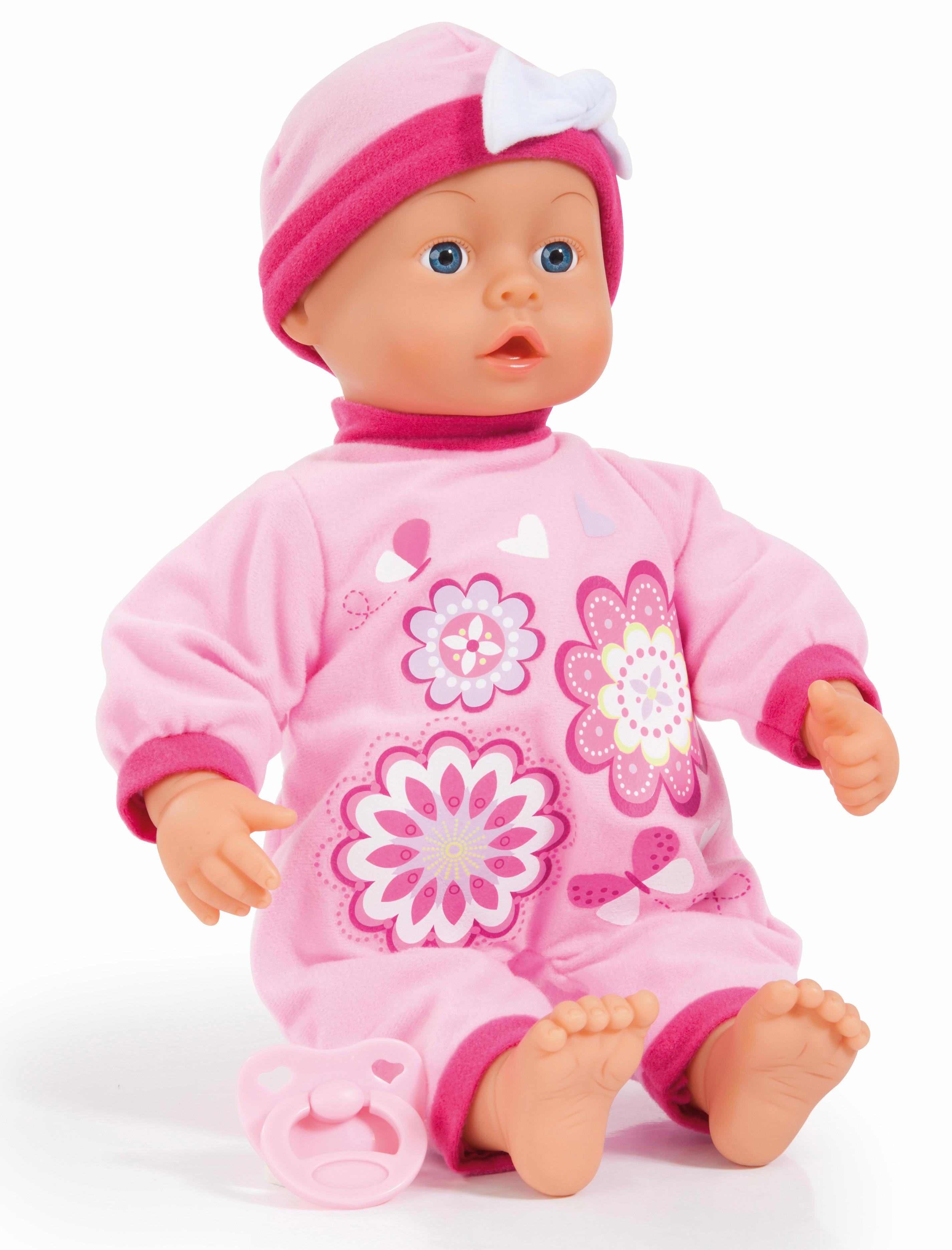 Image of Bayer Design Babypuppe mit Funktion, »First Words Baby, rosa 38 cm«