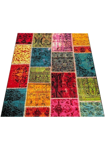 Teppich, »Canvas 790«, Paco Home, rechteckig, Höhe 18 mm, maschinell gewebt kaufen