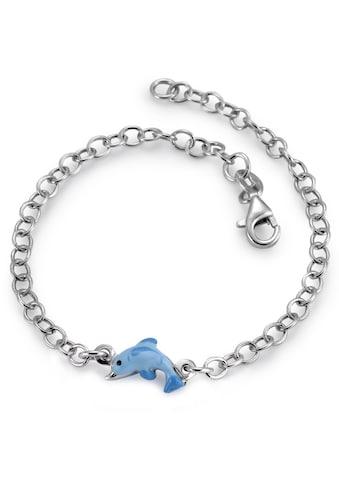 Armband Silberfarben rhodiniert Delfin 17.5 cm kaufen