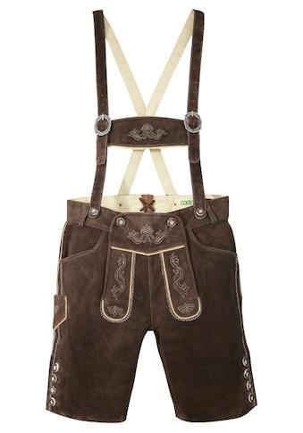 Country Line Trachtenlederhose, (2 tlg., mit Hosenträgern), aus weichem... kaufen