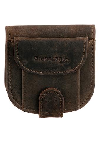 GreenLand Nature Geldbörse »Stone«, aus echtem Leder, im kleinen Format kaufen