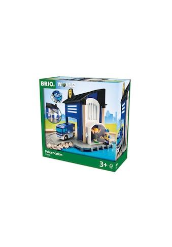 BRIO® Spielzeugeisenbahn-Gebäude »BRIO® WORLD Polizeistation mit Einsatzfahrzeug«, mit... kaufen