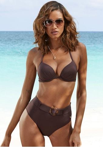 s.Oliver Highwaist-Bikini-Hose »Rome«, mit abnehmbarem Gürtel kaufen