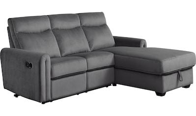 ATLANTIC home collection Ecksofa, inklusive Relaxfunktion, Taschenfederkern und Stauraum kaufen
