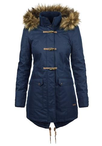 DESIRES Parka »Bea«, warme Jacke mit abnehmbarer Kapuze und Fellkragen kaufen