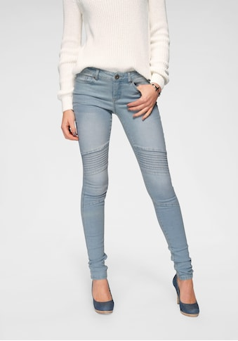 Arizona Skinny - fit - Jeans »im Biker -  Look« kaufen