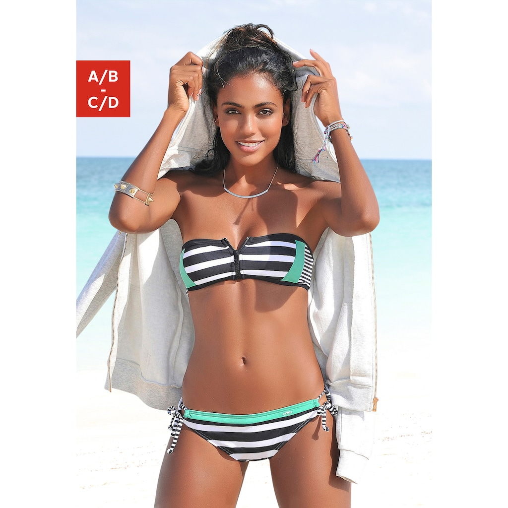 KangaROOS Bandeau-Bikini-Top »Anita«, mit Reissverschluss zwischen den Cups