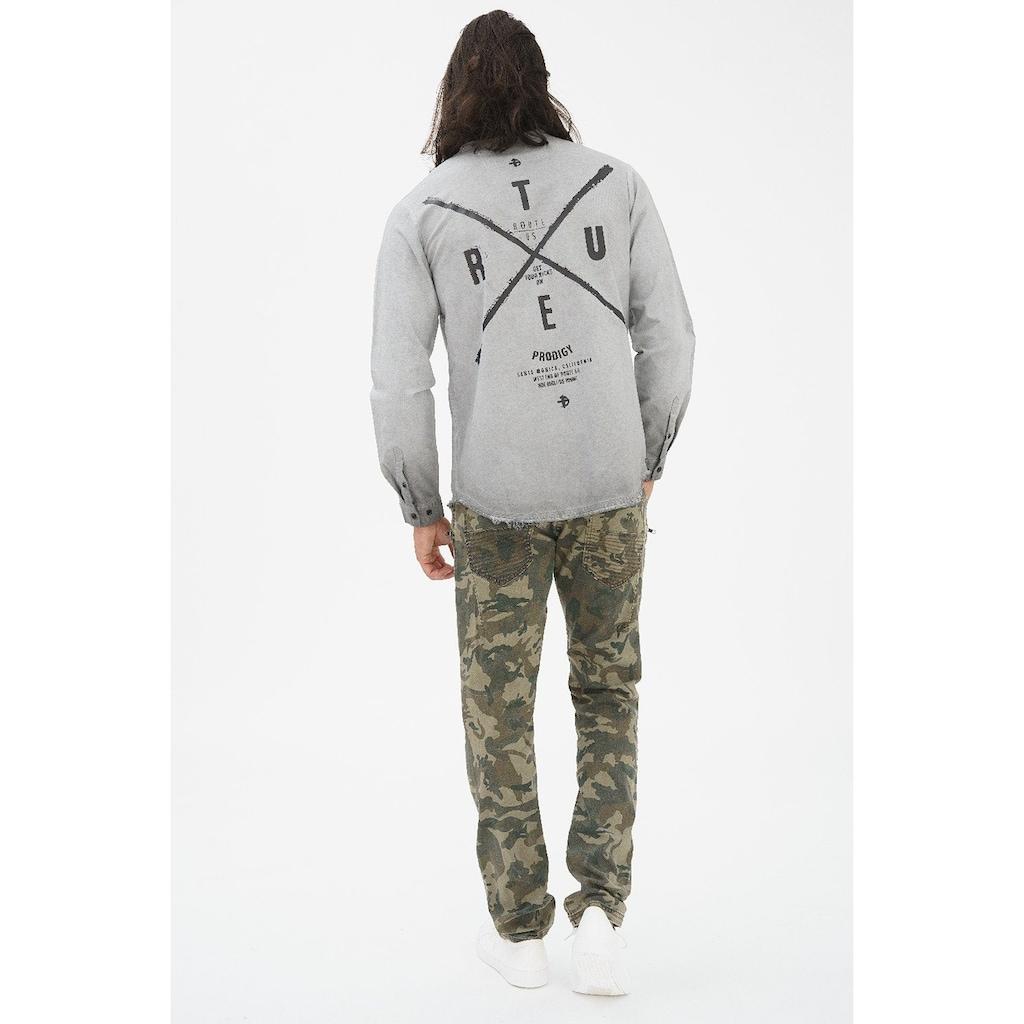 trueprodigy Langarmhemd »Ride Hard - Die Young«, mit Reissverschluss, Patch und Rückenprint