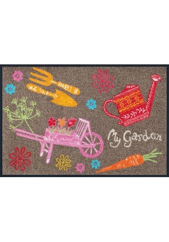 wash+dry by Kleen-Tex Fussmatte »My Garden«, rechteckig, 7 mm Höhe, Schmutzfangmatte,... kaufen