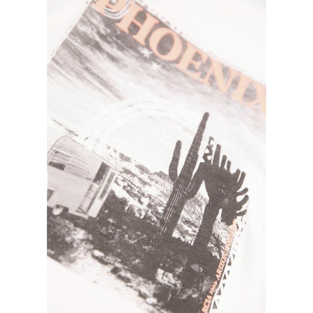 Garcia T-Shirt, mit Phoenix-Druck