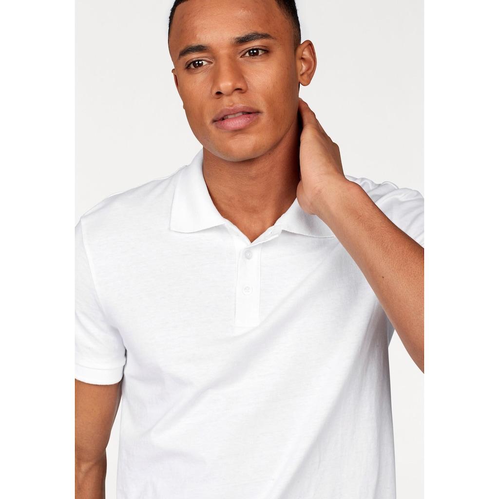 John Devin Poloshirt, mit kurzer Knopfleiste
