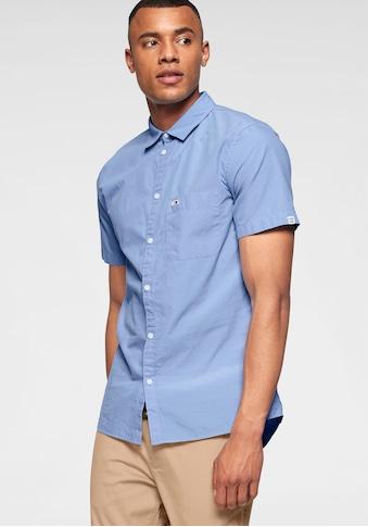 Tommy Jeans Kurzarmhemd »TJM S/S SOLID POPLIN SHIRT« kaufen