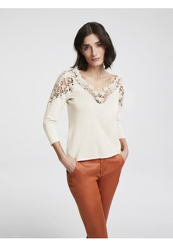 ASHLEY BROOKE by Heine Strickpullover, mit transparenter Spitze kaufen
