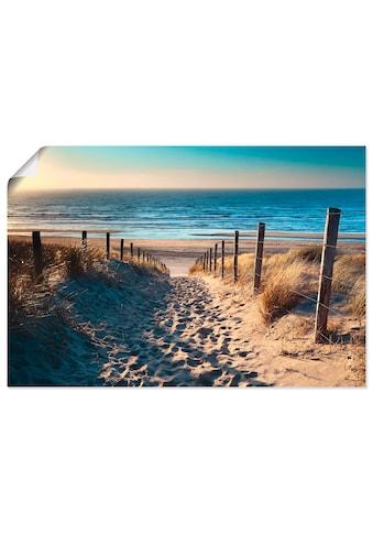Artland Wandbild »Weg zum Nordseestrand Sonnenuntergang«, Strand, (1 St.) kaufen