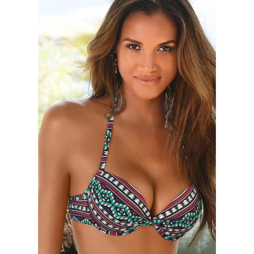 LASCANA Push-Up-Bikini-Top »June«, mit Print