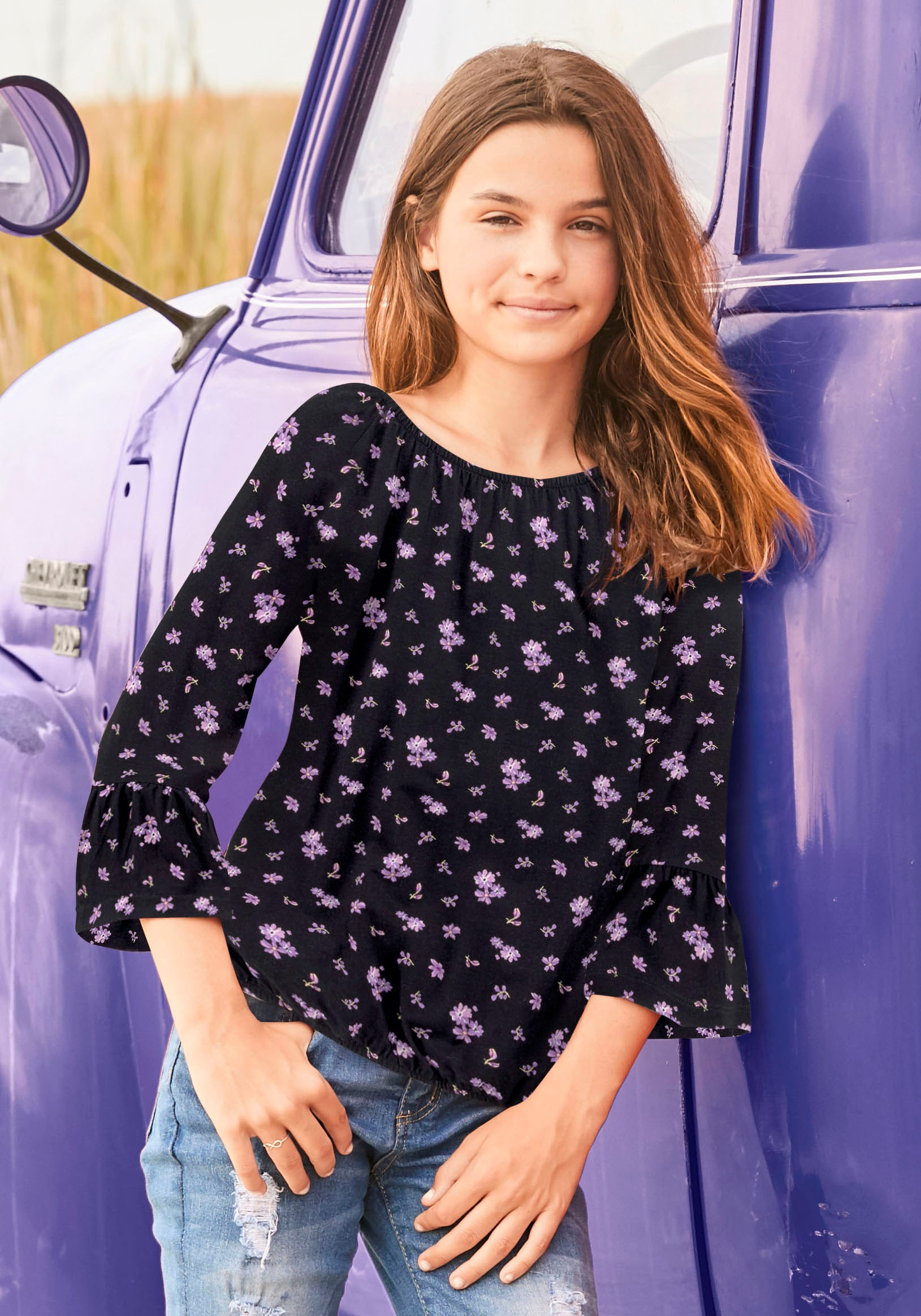 Image of Arizona 3/4-Arm-Shirt, mit grossem Ausschnitt
