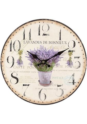 Ambiente Haus Wanduhr »Lavendel Wanduhr 28cm« kaufen