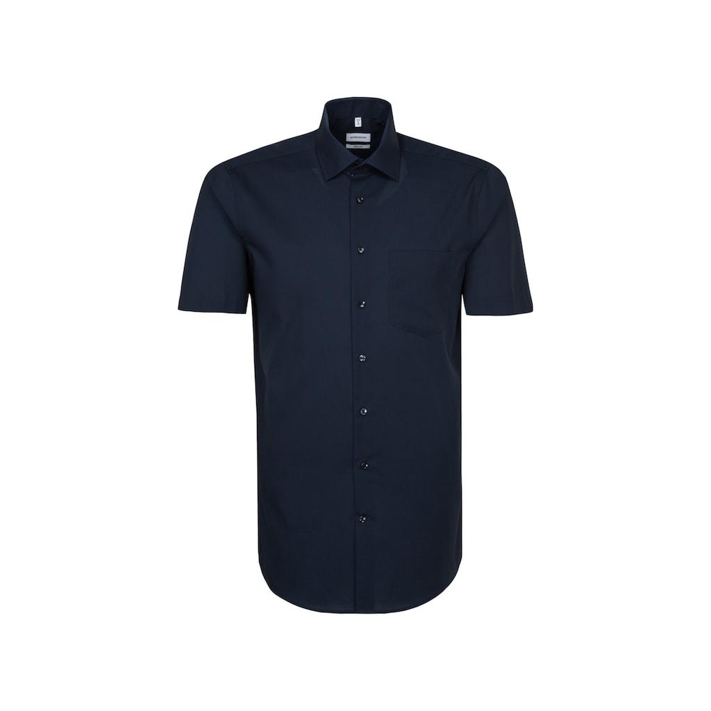 seidensticker Businesshemd »Regular«, Regular Kurzarm Kentkragen Uni